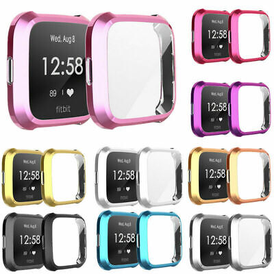 $ CDN4.14 • Buy For Fitbit Versa/Lite Protect Case Cover Plating TPU Screen Protector Case Cover