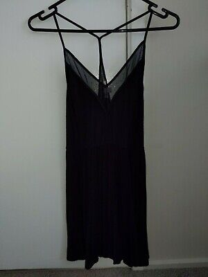AU15 • Buy Urban Outfitters Cope Black Mesh Fit And Flare Party Night Dress Xs 6 8