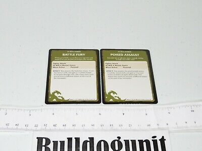 AU8.61 • Buy 2011 Dungeons & Dragons Starter Set Board Game Lot 2 At Will Fighter Card Part
