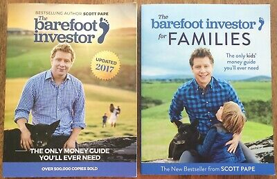 AU35 • Buy The Barefoot Investor & Barefoot Investor For Families Scott Pape Money Books