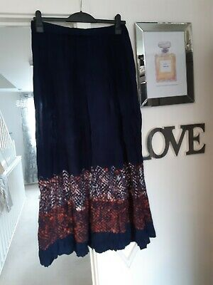 MONSOON Skirt Size M 14 Long Gathered Blue Ethnic Gipsy Boho Indian Hippie  • 4.99£
