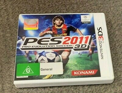 AU17 • Buy Pro Evolution Soccer PES 2011 3D PAL Nintendo 3DS Game AU Release