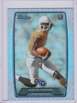 $0.99 • Buy Justin Hunter ROOKIE- 2013 Bowman REFRACTOR-#/37/99-TITANS-