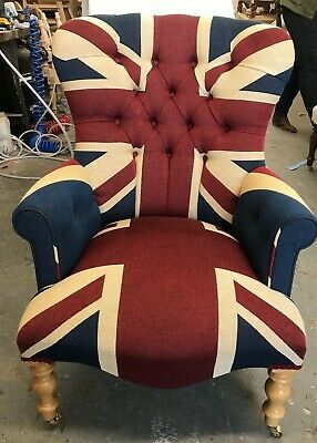 £525 • Buy Union Jack Armchair HANDMADE IN UK New Chair Shabby Chic Standard Size