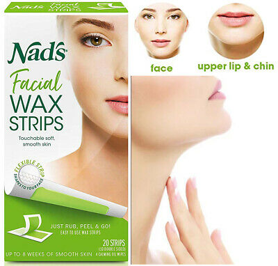 $8.99 • Buy Wax Strips Hypoallergenic All Skin Types Facial Hair Removal 20 Face Wax Strips