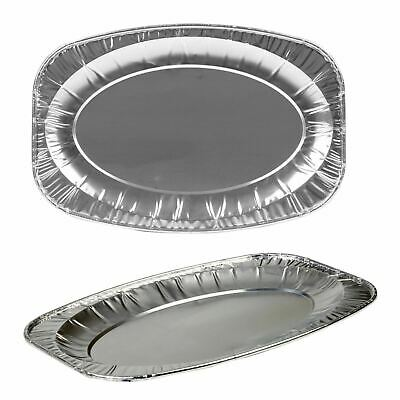 20PK 14  Oval Foil Platters Serving Trays Catering Party Buffet Food • 8.59£