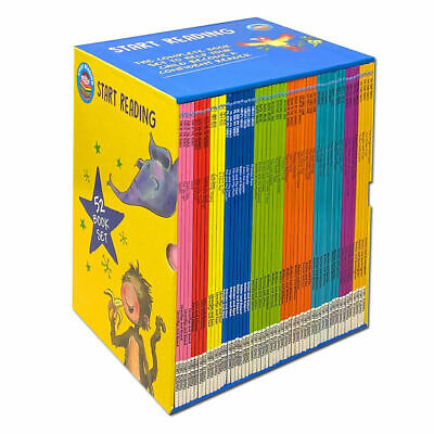 £29.39 • Buy Start Reading 52 Books Collection Box Set Level 1 To 9 Children Early Reading