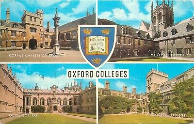Oxford Colleges Multi Views Postcard • 2£