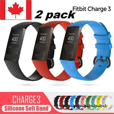$ CDN13.99 • Buy 2 SIZE Replacement Watch Band Silicone Bracelet Wrist Strap For Fitbit Charge 3