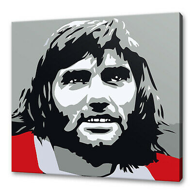 George Best Canvas Picture Print Art Variety Of Sizes Free Uk P&p • 44.99£