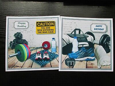 £1.50 • Buy  2 X GYM ADDICT/ FITNESS/ WEIGHTS Birthday Card Toppers (NEW SIZE)