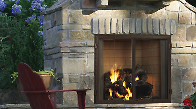 $2669 • Buy Majestic Castlewood 42 Outdoor Wood Fireplace With Stainless Steel Grate