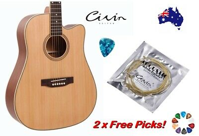 AU9.95 • Buy Acoustic Guitar Strings With 2 Free Picks Steel Civin Premium Light Universal
