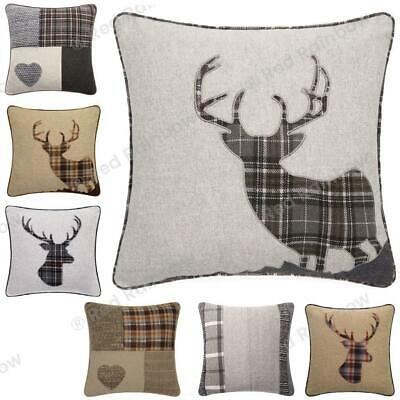 £2.99 • Buy FAULTY SECONDS  Stag, Patchwork Tartan Heart 18  Cushion Covers RRP £7.99