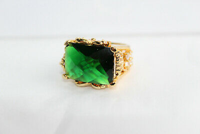 $145 • Buy CHARLES WINSTON CWE CZ 925 Green Clear Size 4.5 Ring Flowers Butterflies B*