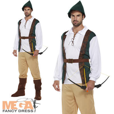 £12.99 • Buy Medieval Hunter Mens Fancy Dress Robin Hood Adults Book Day Week Costume Outfit