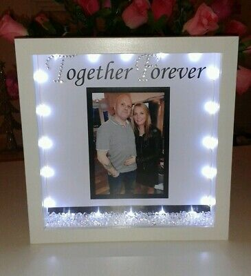 Personalised Boyfriend Or Girlfriend  Gift With Crystals And Lights • 19£