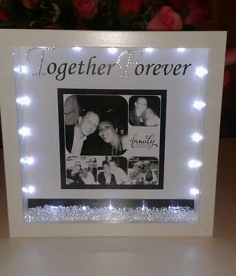 Personalised Boyfriend Or Girlfriend  Gift With Crystals And Lights • 21£