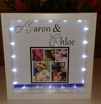 Personalised Boyfriend Or Girlfriend  Gift With Crystals And Lights • 20£