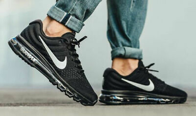 $140.99 • Buy Nike Air Max 2017 Running Shoes Black Anthracite White 849559-001 Men's NEW