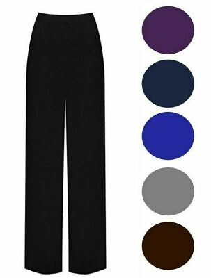 £9.99 • Buy New Plus Size Womens Palazzo Wide Leg Flared Ladies Stretch Trousers Pants 8-30