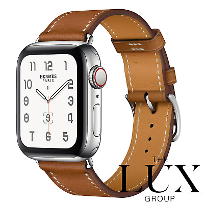 AU666.80 • Buy Hermes Apple Watch Single Tour Fauve 38mm 40mm Band Only Series 1-6 Brand New