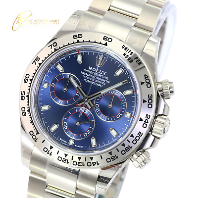 $ CDN56563.60 • Buy Rolex 116509 Cosmograph Daytona 18K White Gold With Blue Dial 40mm -Unworn