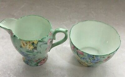 Shelley Sugar Bowl And Cream Jug Melody Pattern. • 18£