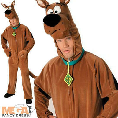 Scooby Doo Dog Adults Fancy Dress Halloween TV Cartoon Deluxe Plush Mens Costume • 38.99£