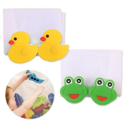 £3.98 • Buy Mesh BABY BATH TIDY Rubber Plastic Toy Storage Wall Mounted Sucker Suction Cups