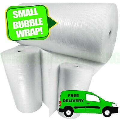 £8.85 • Buy BUBBLE WRAP ROLLS SMALL LARGE (300mm, 500mm, 750mm) - FREE UK NEXT DAY DELIVERY