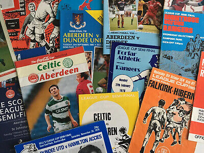 £3 • Buy Scottish League Cup Semi-Final Programmes *Choose From List* Discount Available!