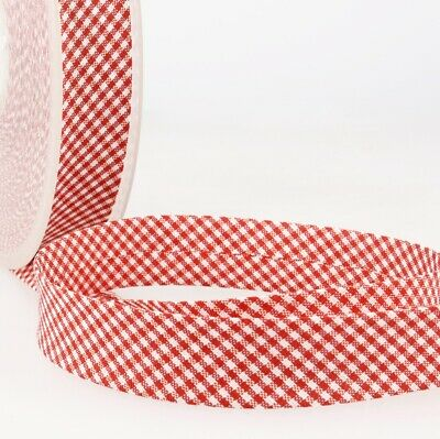 £1.70 • Buy La Stephanoise Polycotton Bias Binding - 30mm Wide Small Gingham - Red - Per ...