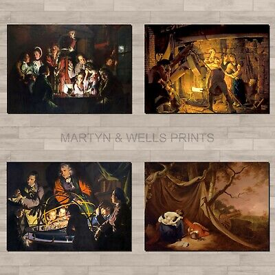 Joseph Wright Of Derby A4 Canvas Paper / Poster Art Prints. Science And Industry • 3.95£