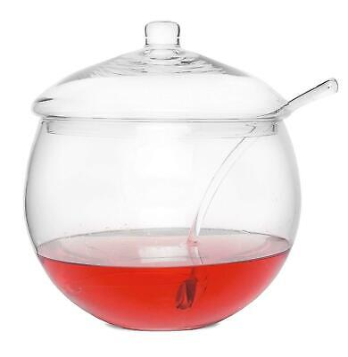 Clear Glass Punch Bowl With Lid 4.5 Litres   Cocktail Bowl (Ladle Not Included) • 29.99£