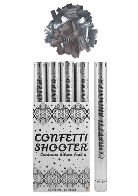 £8.95 • Buy Confetti Shooter Silver Foil 50cm 80cm Compressed Air Cannon Party Wedding Poppe