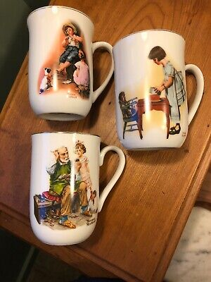$ CDN6.31 • Buy Collectible Set Of 3 NORMAN ROCKWELL Museum MUGS