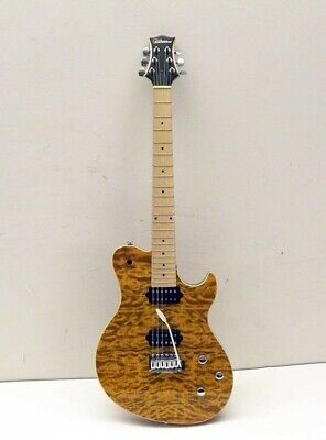 $ CDN414.65 • Buy Silvertone Model# SFB-1/AM Faux Tigered Sparkle Brown Electric Guitar WITH CASE