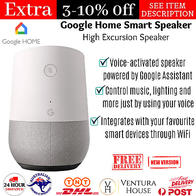 AU138.90 • Buy Minimalist Google Home Smart High Excursion Speaker Phone Entertainment Music