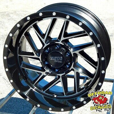 $992 • Buy 20x10  BLACK MOTO METAL BREAKOUT WHEELS RIMS F-250 F-350 SUPER DUTY LARIAT 8x170