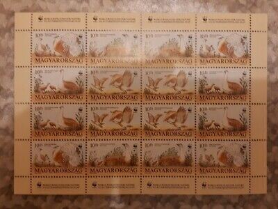 Hungarian Stamp Sheet - World Wide Fund For Nature - 16 Stamps • 4£