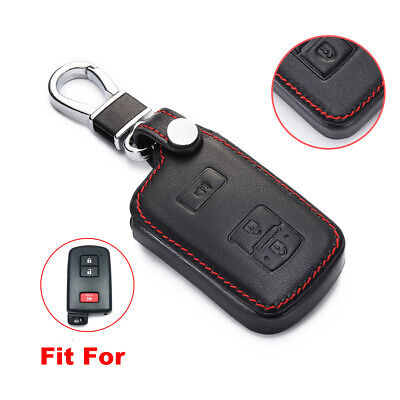$10.98 • Buy Fit Toyota 4Runner Tacoma 3 Buttons Leather Smart Remote Key Fob Bag Cover Case