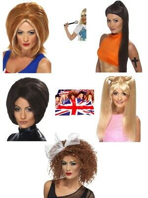 Womens Spice Girl Wigs Posh Baby Scary Sporty Ginger LGBT FREE Mics Music Party  • 15.50£