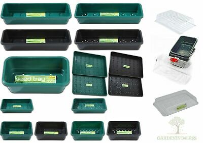 £6.75 • Buy Garland Garden Seed Trays And Lids Plastic Hydroponic Greenhouse Propagation