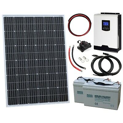 £819.99 • Buy 250W 12V Complete Off-grid System With 250W Solar Panel And 1kW Hybrid Inverter
