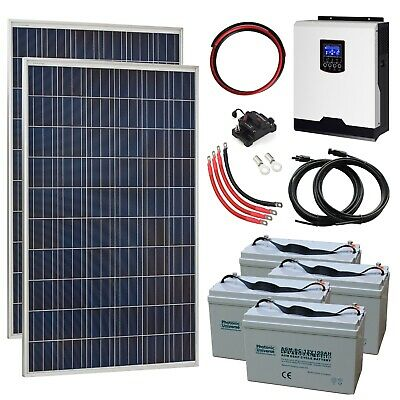 £1599.99 • Buy 550W 24V Complete Off-grid System With 2 X 275W Solar Panels 3kW Hybrid Inverter