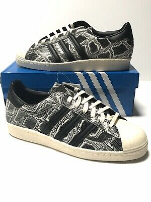 $ CDN63.63 • Buy ADIDAS ORIGINALS SUPERSTAR 80'S SNAKESKIN BLACK SHELL TOP BZ0141 Size 9