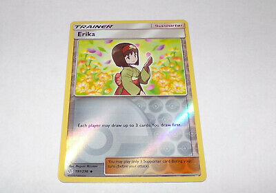 191/236 Erika | Uncommon Reverse Holo Card | SM12 Cosmic Eclipse Pokemon TCG Bra • 3£