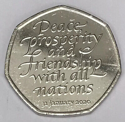 New Brexit 50p Coin 2020 Fifty Pence Rare Collectible • 1.99£