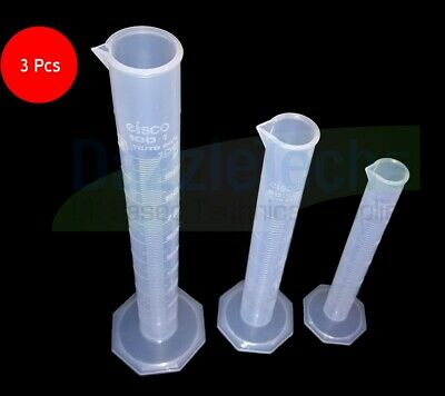 £7.99 • Buy 100ml + 50ml + 25ml Graduated Measuring Cylinder Kitchen Science Experiment 3pc